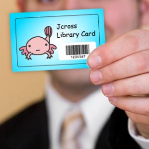 コレクション「図書館の利用者カード」掲載開始です。